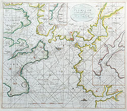 Plymouth and Salcombe antique sea chart by Van Keulen
