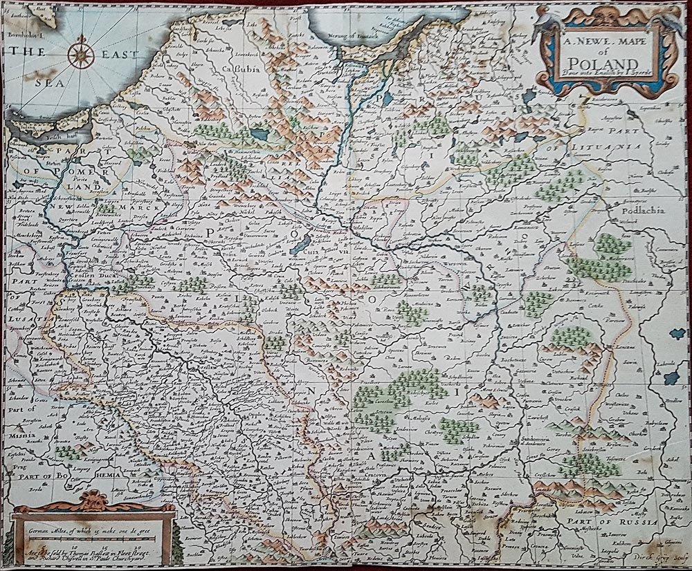 Antique map of Poland by Speed