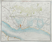 Portsmouth map by Thomas Moule for sale