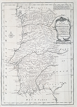 Portugal antique map for sale