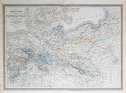 19th century map of Prussia for sale
