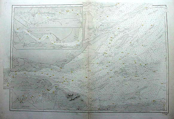 Chart of the River Thames 1909