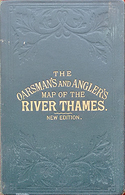 River Thames Victorian Map for sale