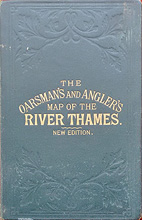 River Thames Victorian Map