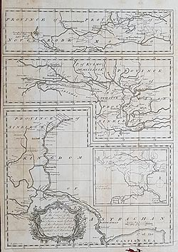 antique map of River Volga for sale