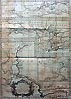 Antique Map of the River Volga Russia