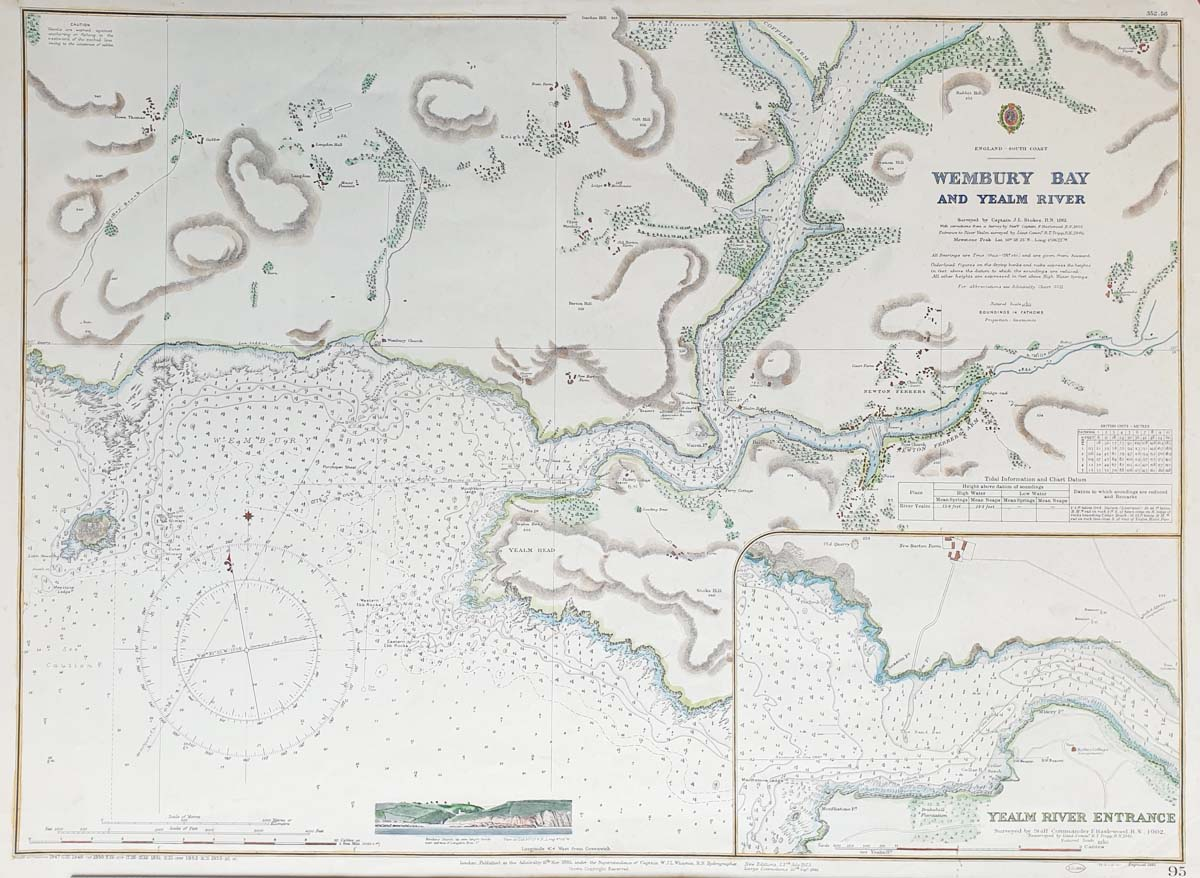 Yealm Admiralty chart for sale