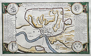 Rome map 18th century by Basire
