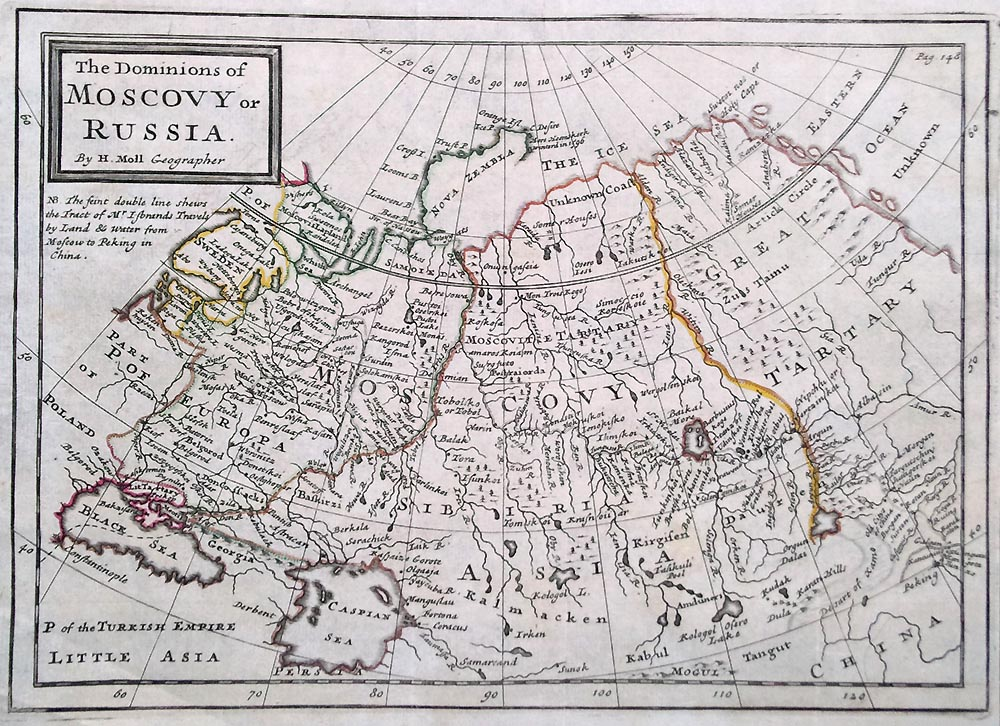 Russia The Dominions of Muscovy in Europe by Herman Moll
