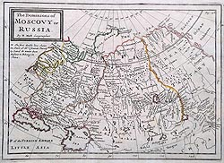 Russia The Dominions of Muscovy or Russia map for sale