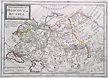 Antique map of Russia by Moll