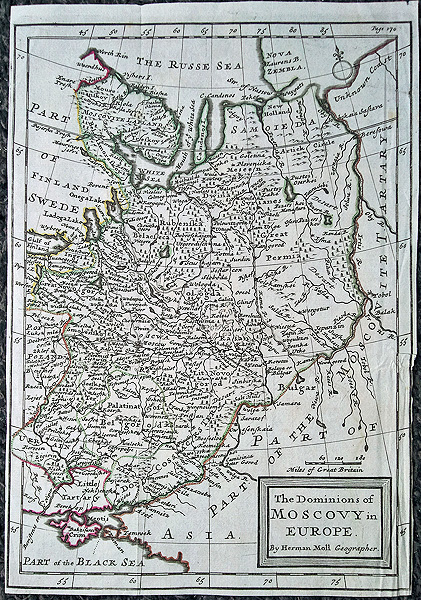 The Dominions of Muscovy or Russia by Herman Moll