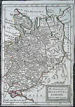 Russia The Dominions of Muscovy in Europe