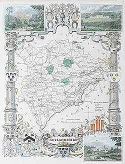 Antique map of Rutlandshire for sale by Thomas Moule