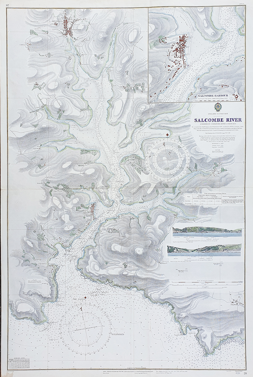 Admiralty chart of Salcombe Herm and Sark
