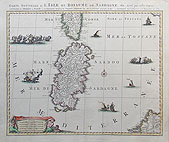 Sardinia and Corsica antique map by Nicholas Sanson dated c.1705-20