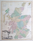 Scotland antique map by Kitchin for sale 1778