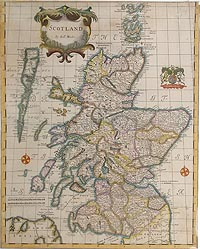 Scotland 17th century map by Robert Morden for sale