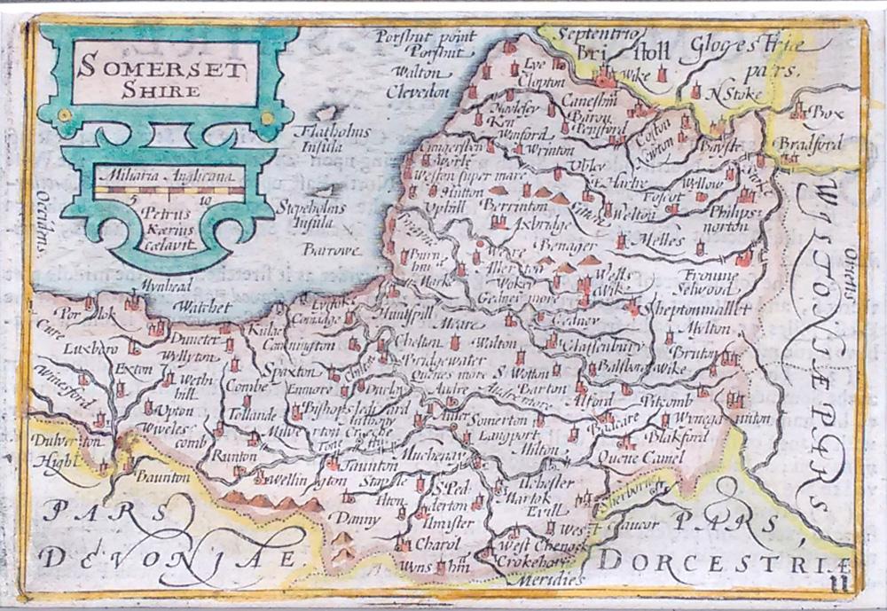 Old Antique Maps Somerset Genuine Originals Th Th Century - Buy old maps online