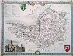 moule map of Somerset for sale