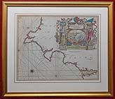 antique chart by Greenville Collins of South Devon