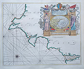 South Devon 17th century chart by Capt Greenville Collins