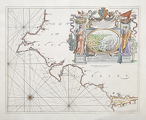 17th century South Devon Chart for sale by Collins