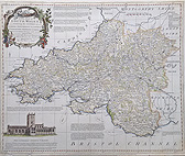 South Wales 18th century map for sale