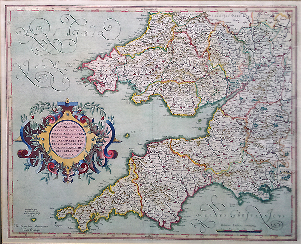 South West England and Soth wales by Gerard Mercator