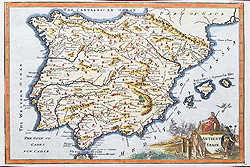 Antique map of Spain for sale - Basire