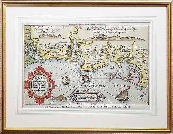 Map framed and sent to Spain