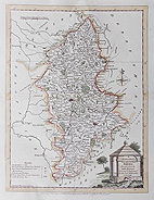 Staffordshire 18th century map for sale - Ellis