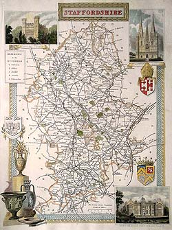 staffordshire-moule map for sale