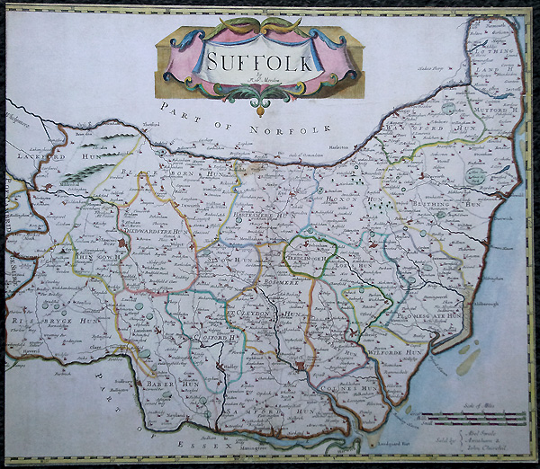 Antique Map of Suffolk