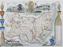 Moule map of Suffolk for sale