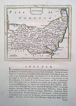 Seller Grose 18th century map of Suffolk