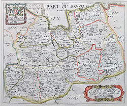 Antique Old Maps Of Surrey Antique Historical Th Th Century - Old maps for sale online