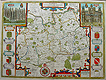 John Speed Antique Map of Surrey