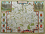 Antique Map of Surrey by John Speed dated circa 1676