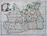 Antique Map of Surrey by James Wyld - Large Scale