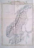 Decorative map of Sweden and Norway