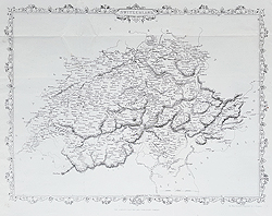 Antique map of Switzerland for sale - Rapkin
