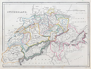 Antique Map of Switzerland for sale