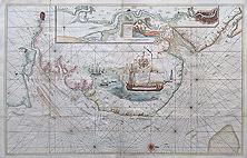 Thames chart by Greenville Collins