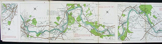 Stanford S New Map Of The River Thames From Richmond To
