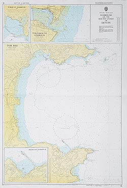 South Devon Admiralty Chart for sale
