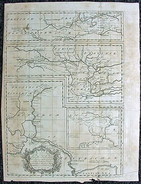 River Volga Map by John Gibson