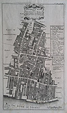 Walbrook and Dowgate Wards London - Antique Plan
