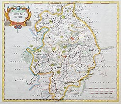 Robert Morden Map of Warwickshire
