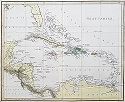 Antique maps of the West Indies for sale
